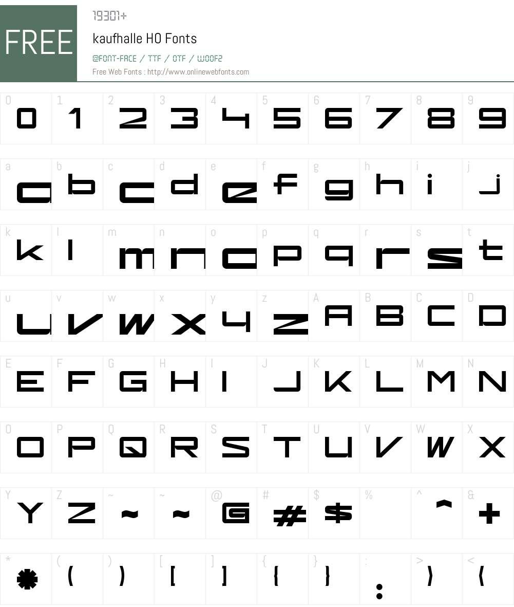 kaufhalle Font Screenshots