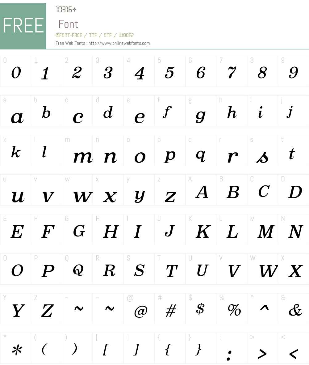 OxtailOTW00-MediumItalic Font Screenshots