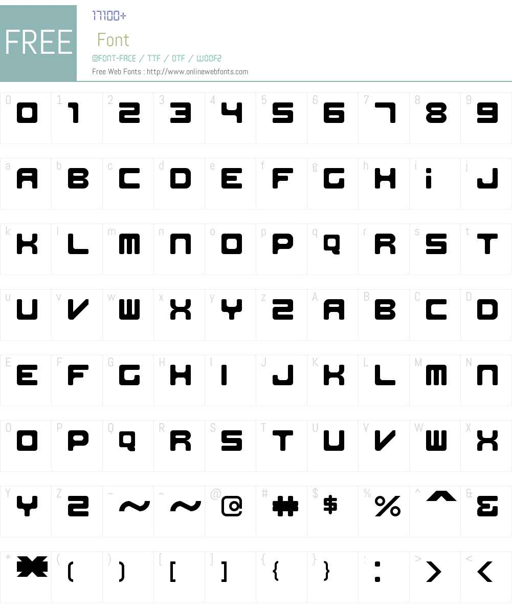 Work of Digitality Font Screenshots