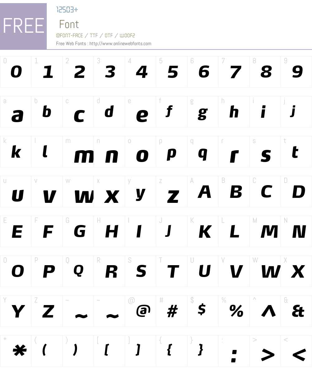 MaxTF-BlackItalic Font Screenshots