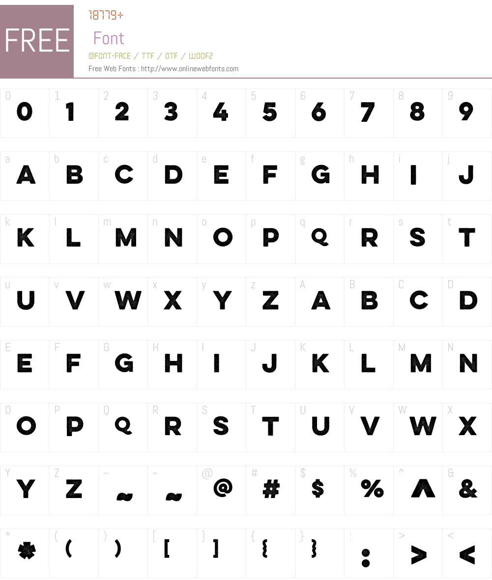 LuloW00-OneBold Font Screenshots