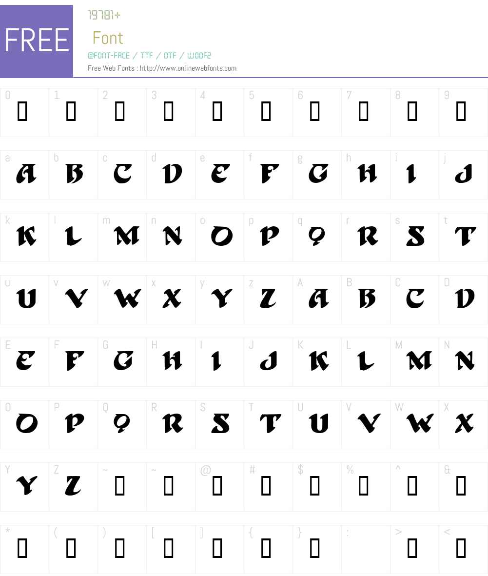 BlackBeard Font Screenshots