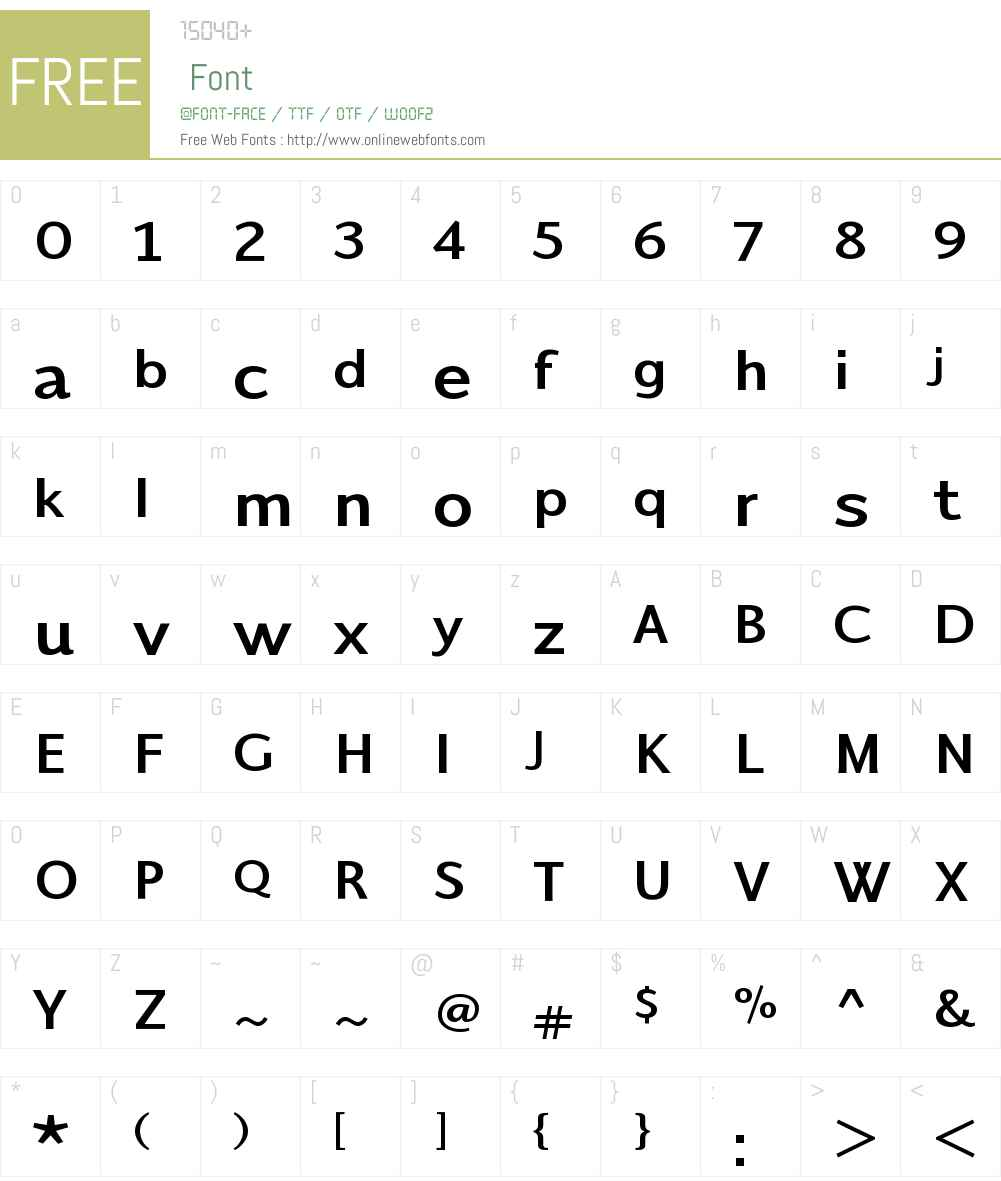 TalisBoldW00-Bold Font Screenshots