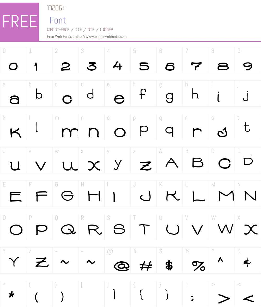 AbbieBess Font Screenshots