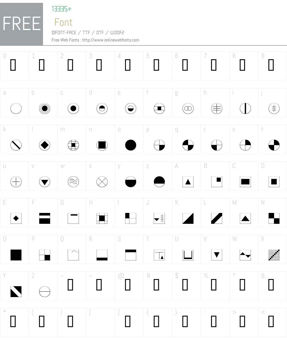 DeStijl Font Screenshots