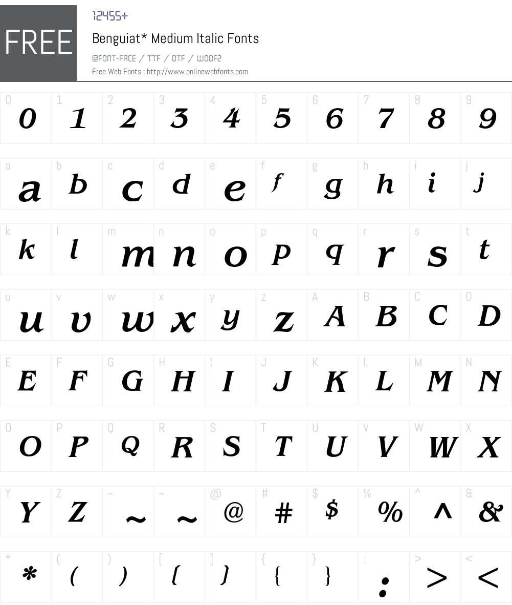 Benguiat BQ Font Screenshots