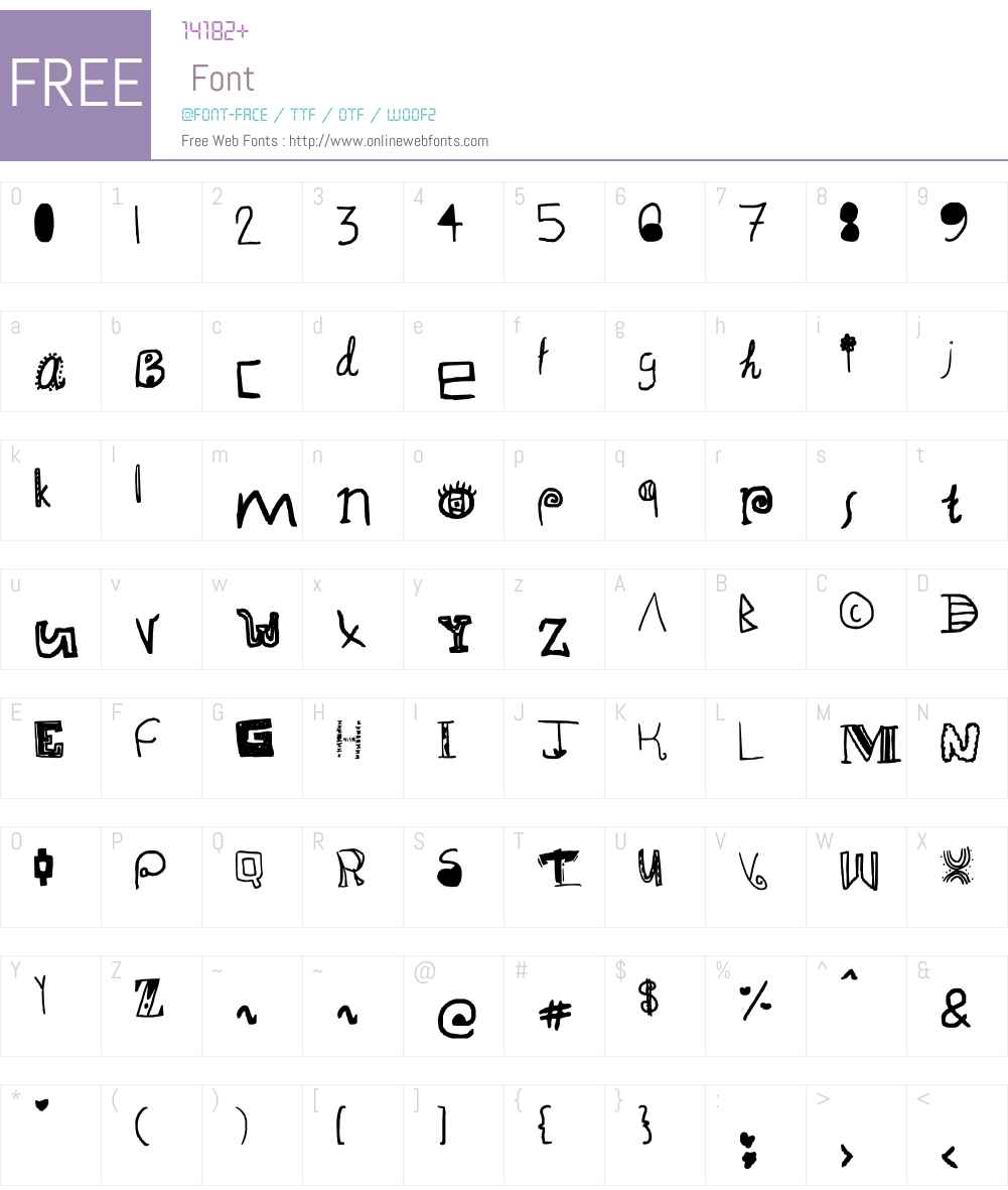 alligator fantastic Font Screenshots
