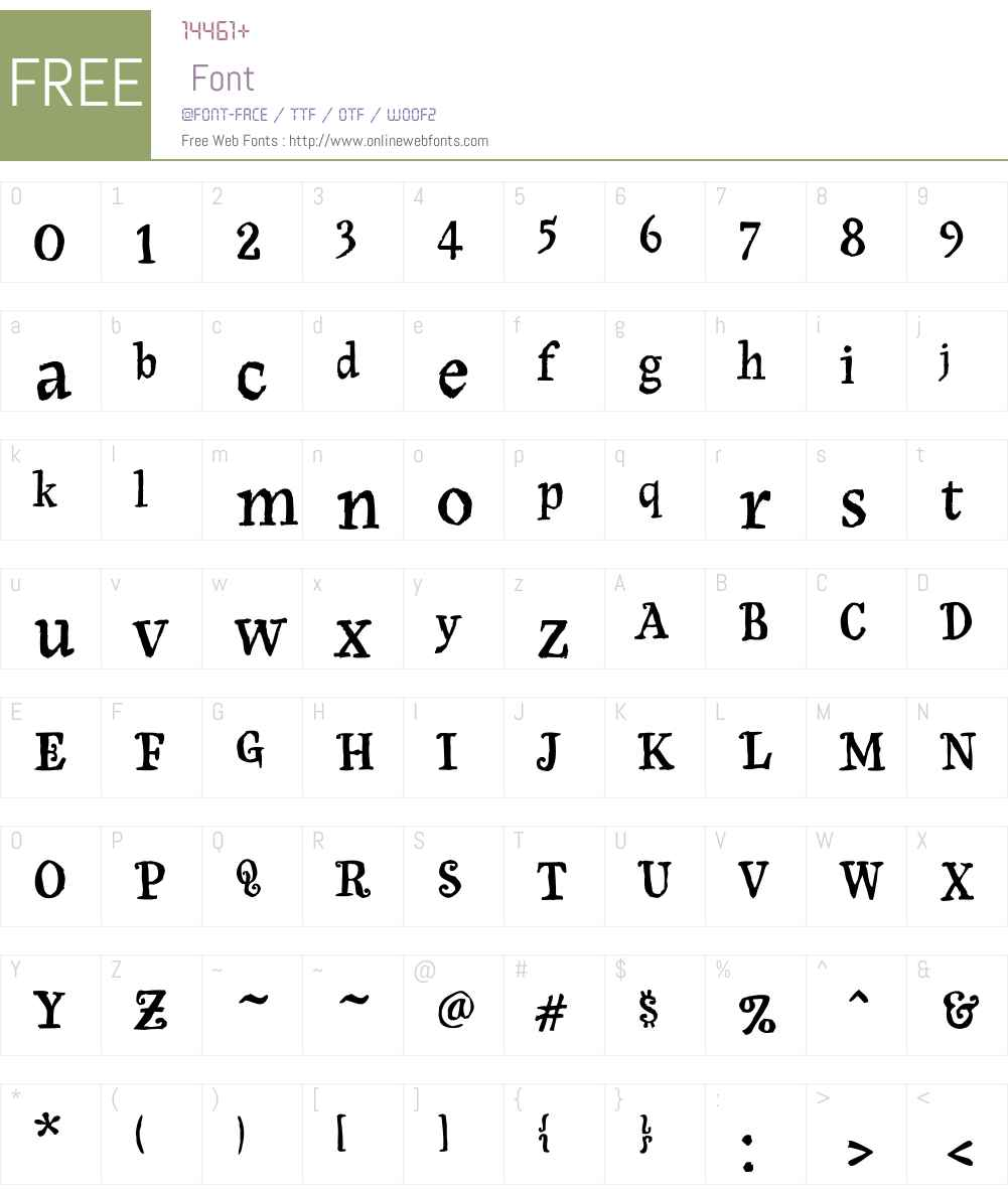 Olduvai Font Screenshots