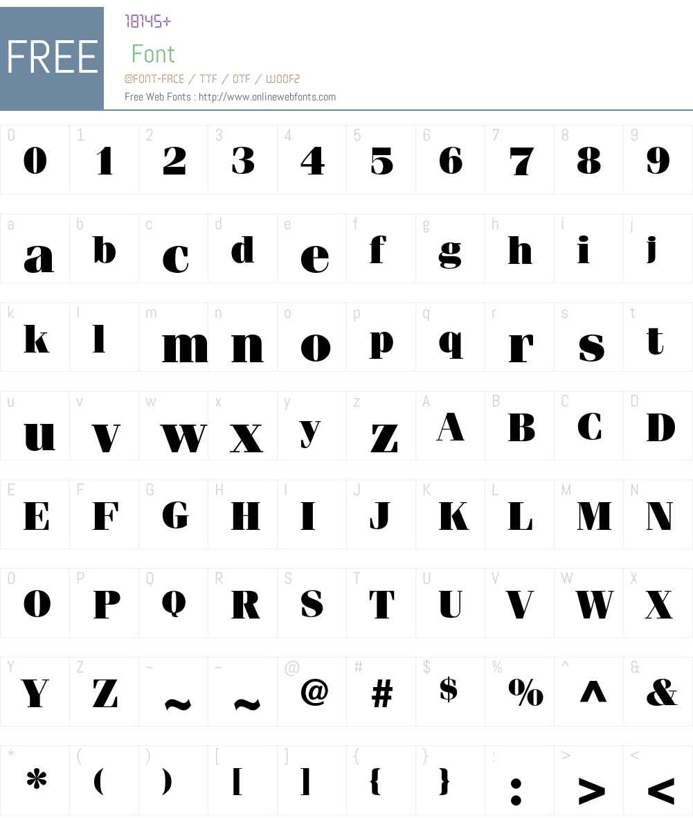 ITC Fenice Std Font Screenshots