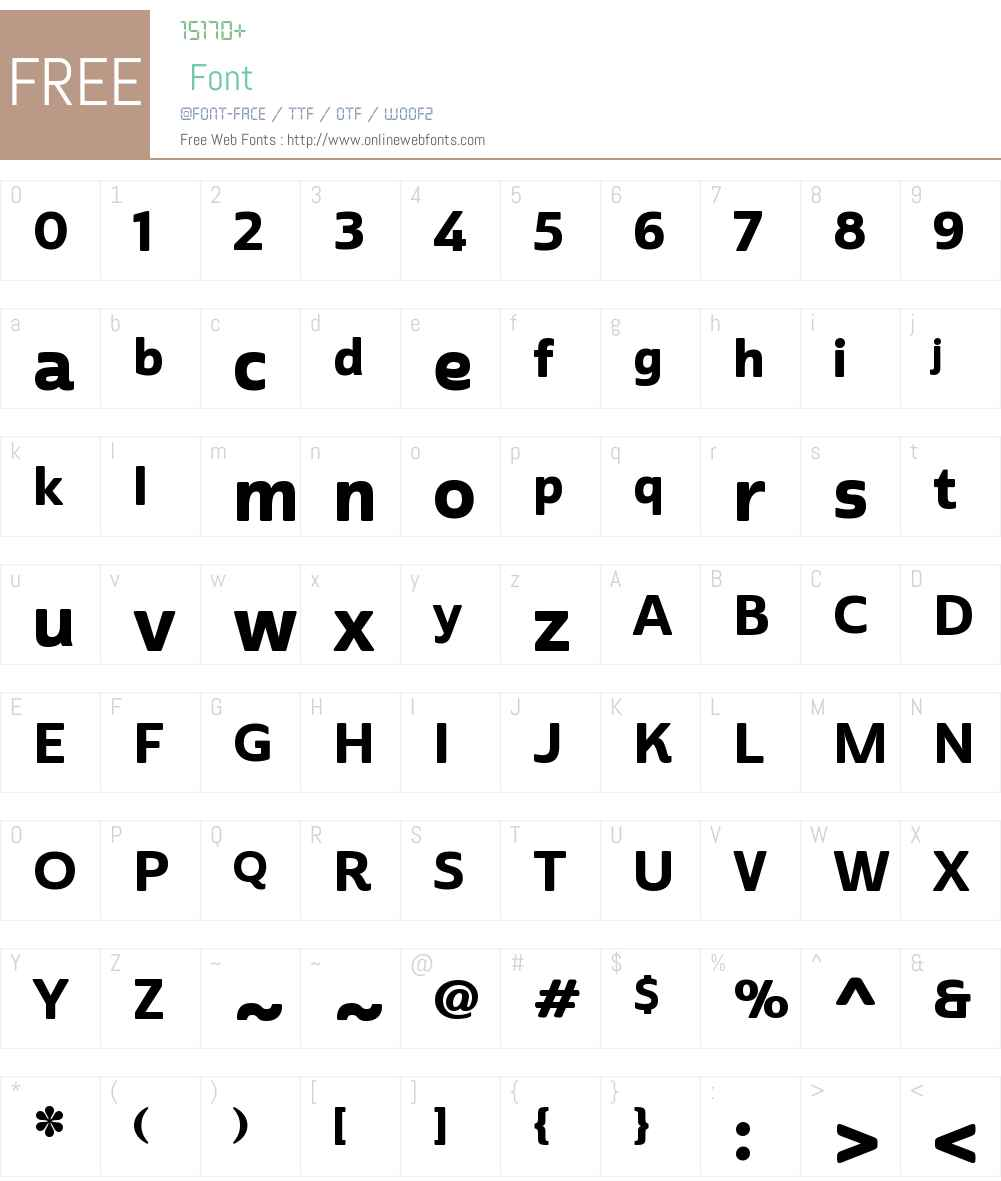 CabritoSansW01-NormExBold Font Screenshots