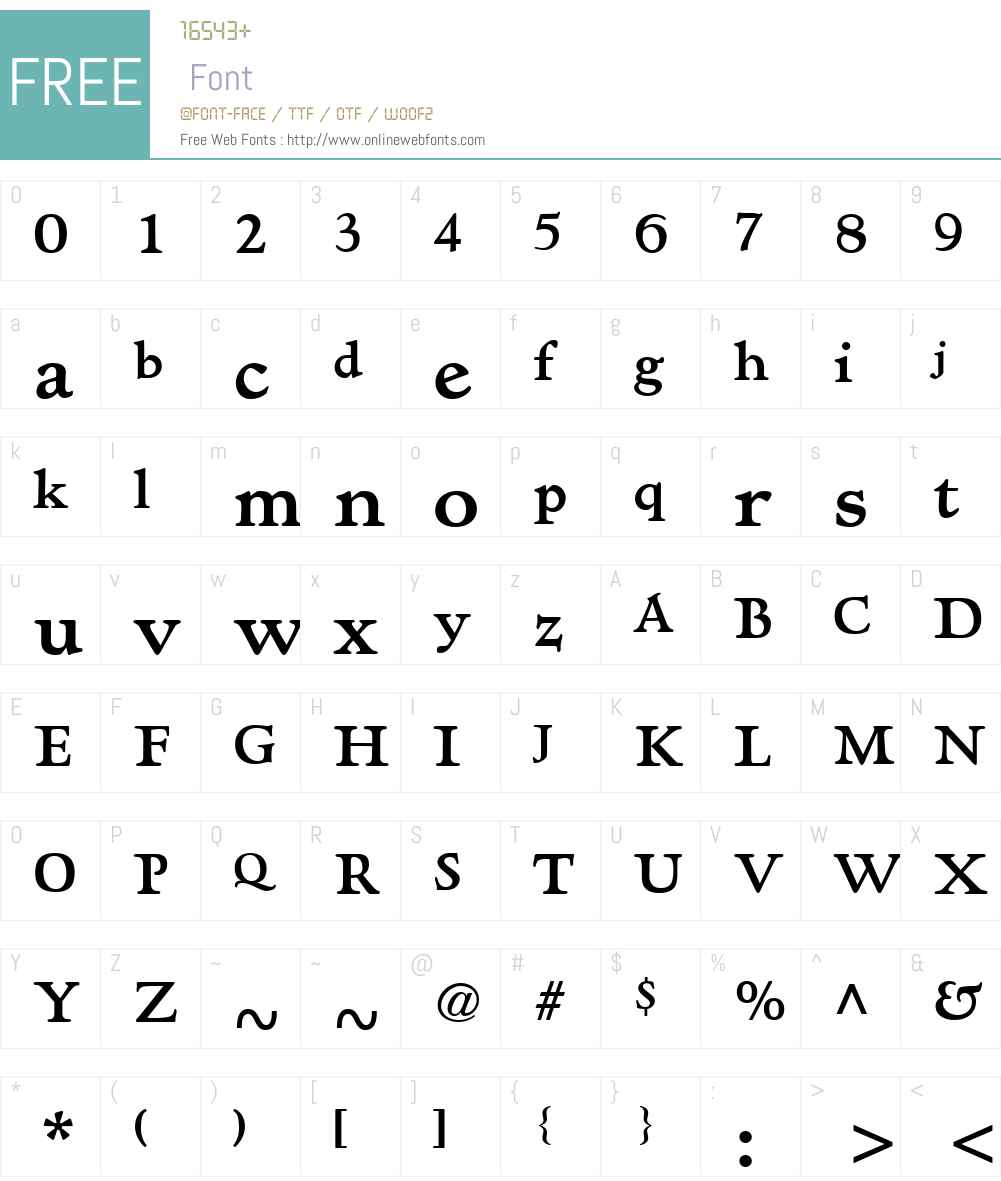 Hadriano Font Screenshots
