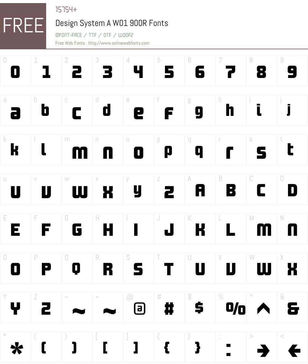 DesignSystemAW01-900R Font Screenshots