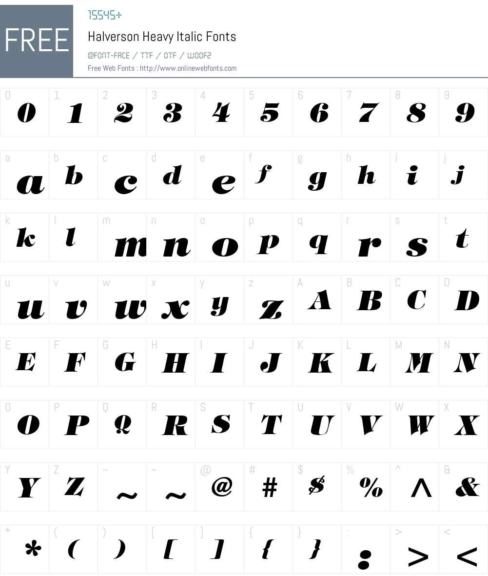 Halverson Heavy Font Screenshots