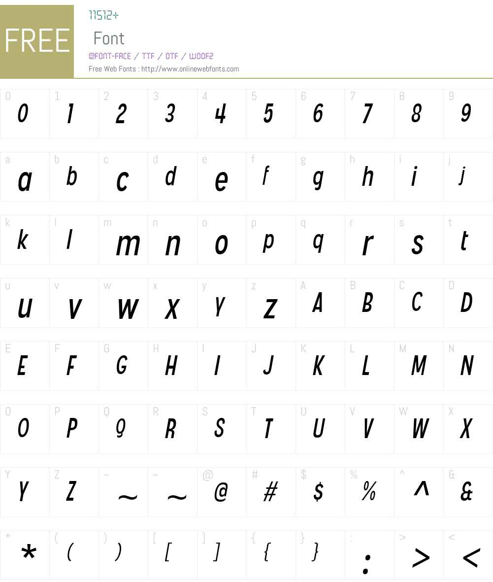 AngosturaW00-Italic Font Screenshots