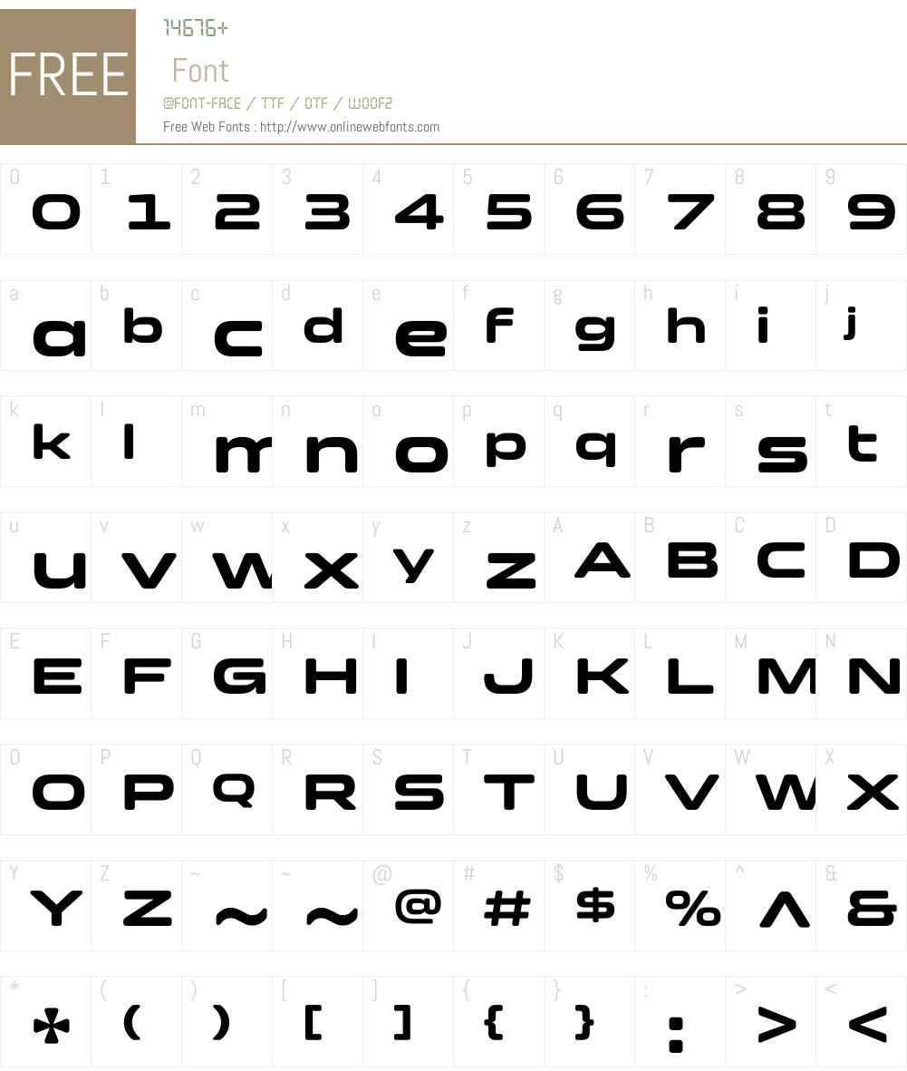 ClonoidW01-Bold Font Screenshots