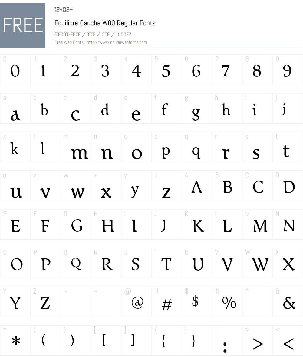 EquilibreGaucheW00-Regular Font Screenshots