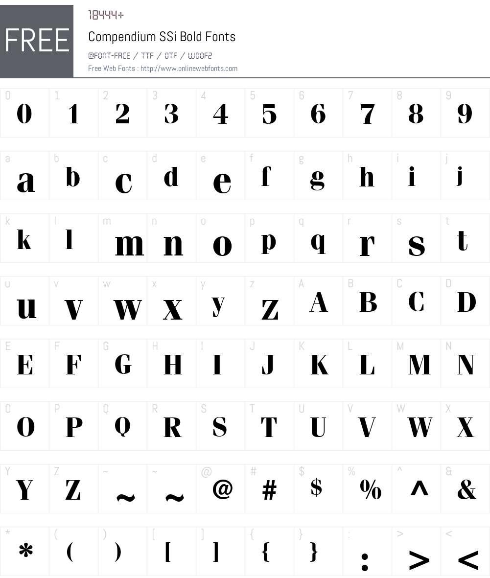 Compendium SSi Font Screenshots