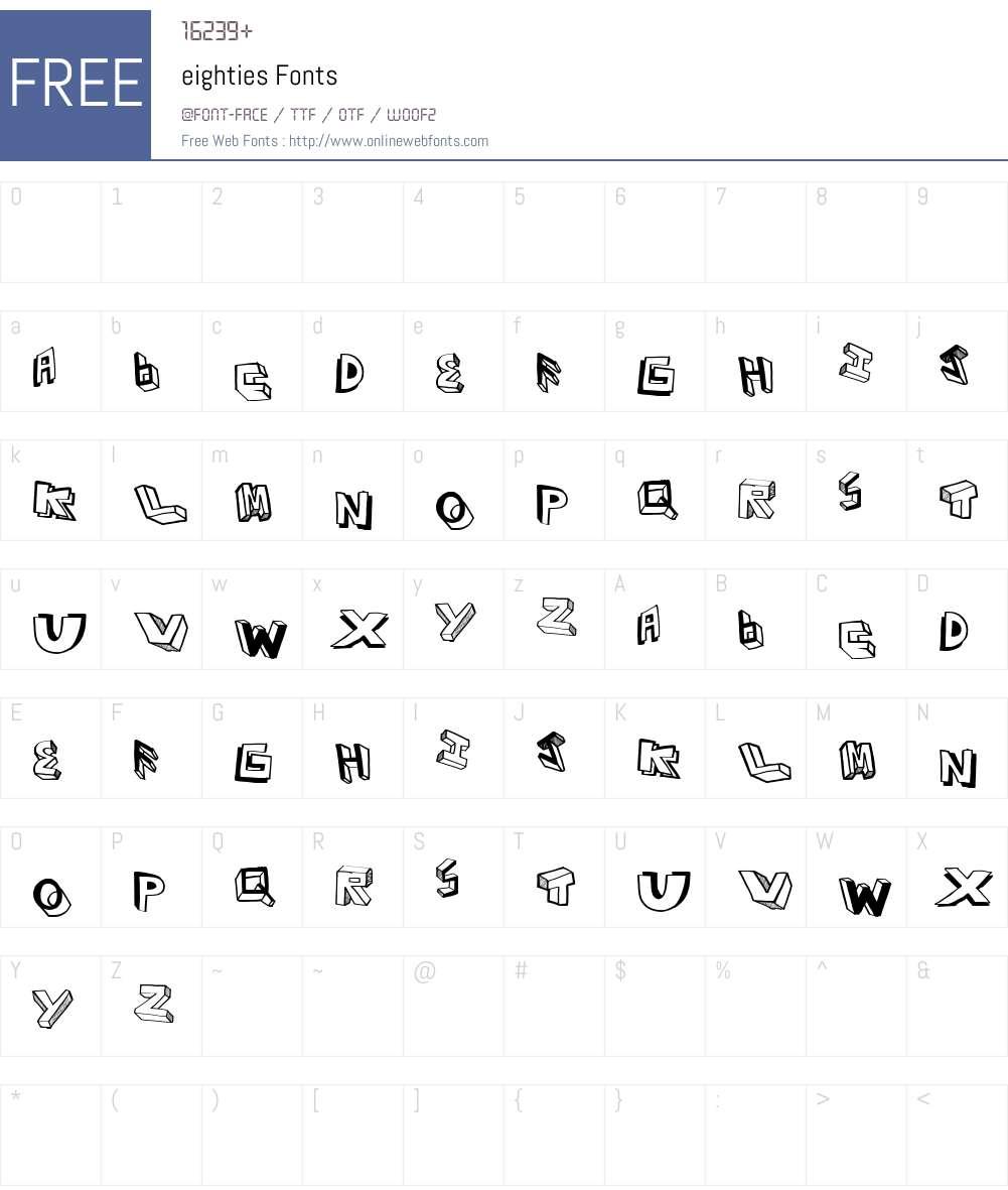 eighties Font Screenshots