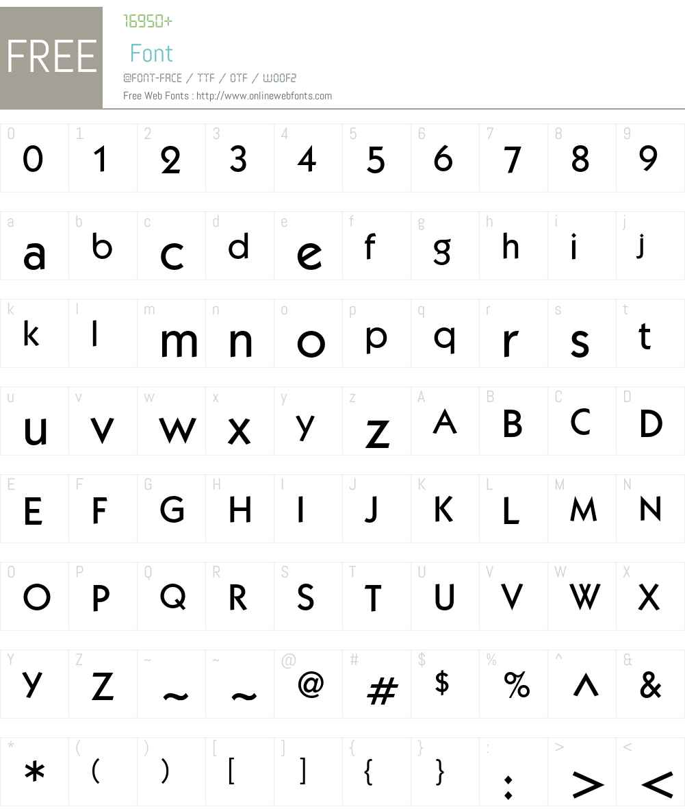 KabelC Font Screenshots