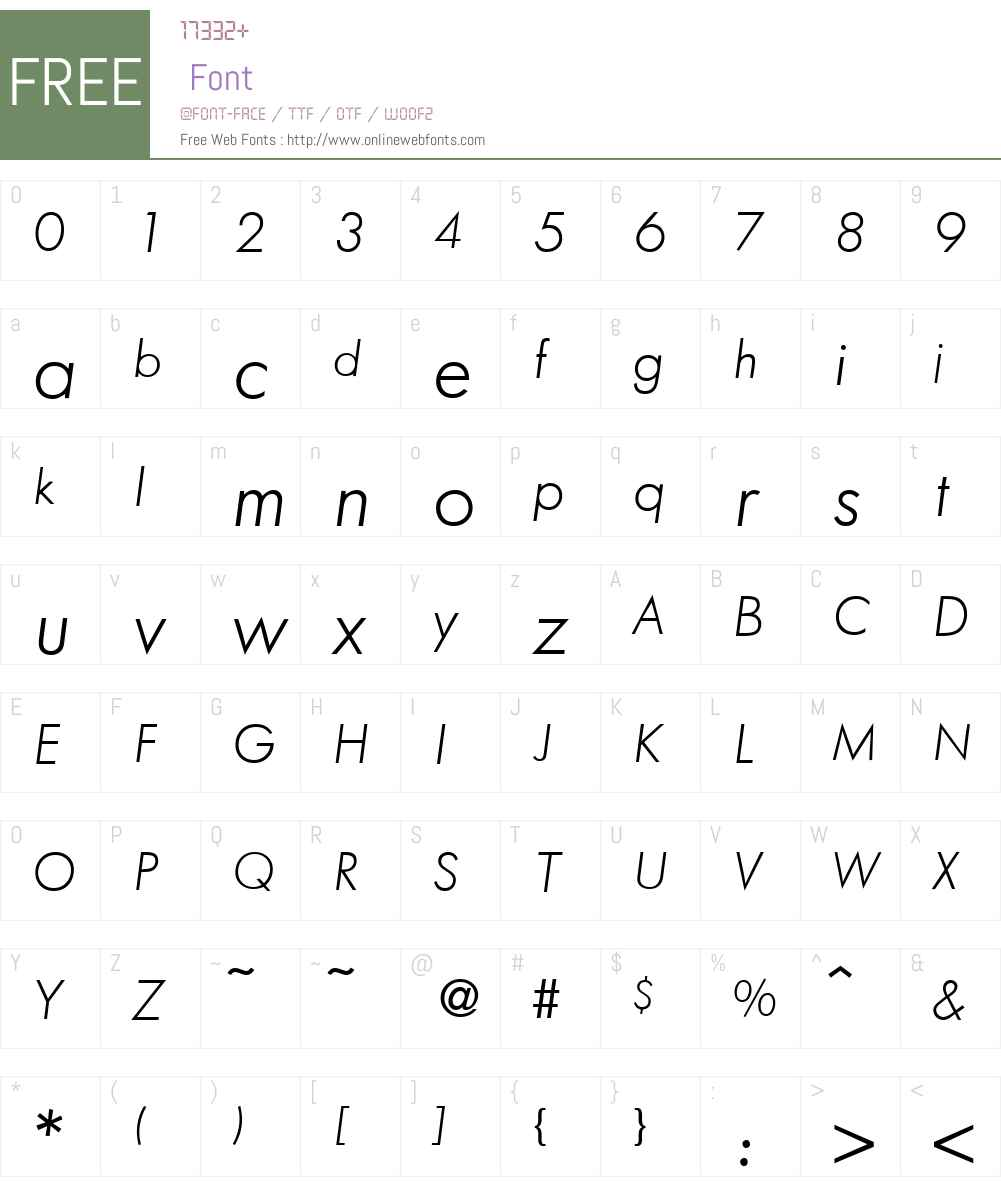 FunctionTwoLight Font Screenshots