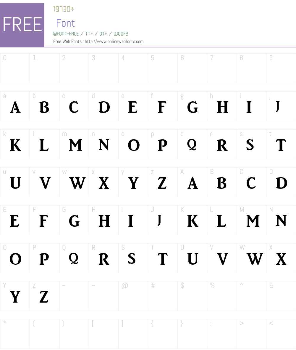 BigtowneBold Font Screenshots