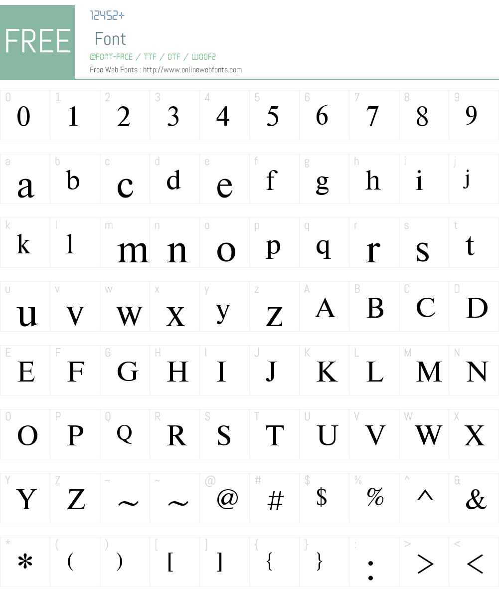 Newton Font Screenshots