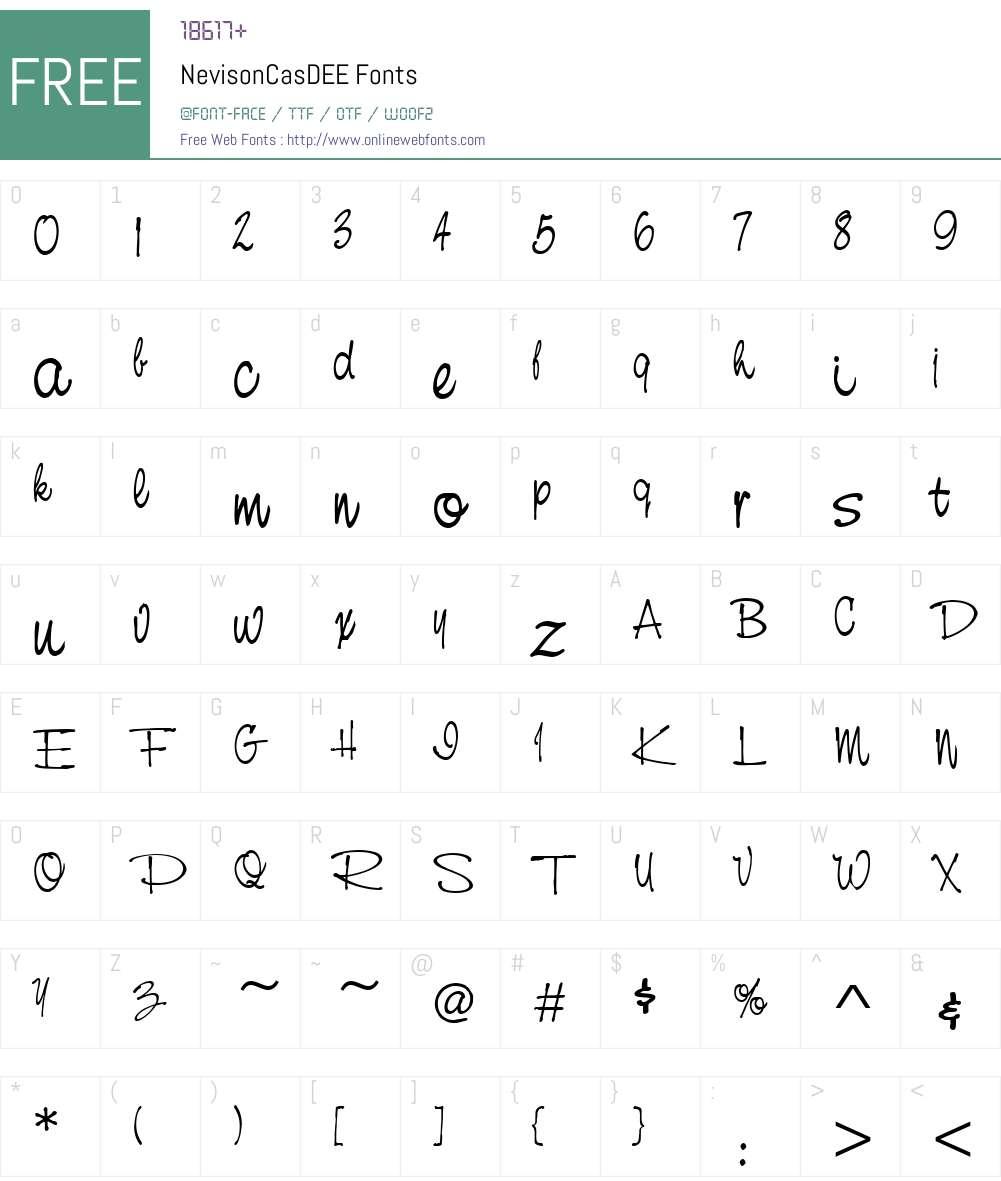 NevisonCasDEE Font Screenshots