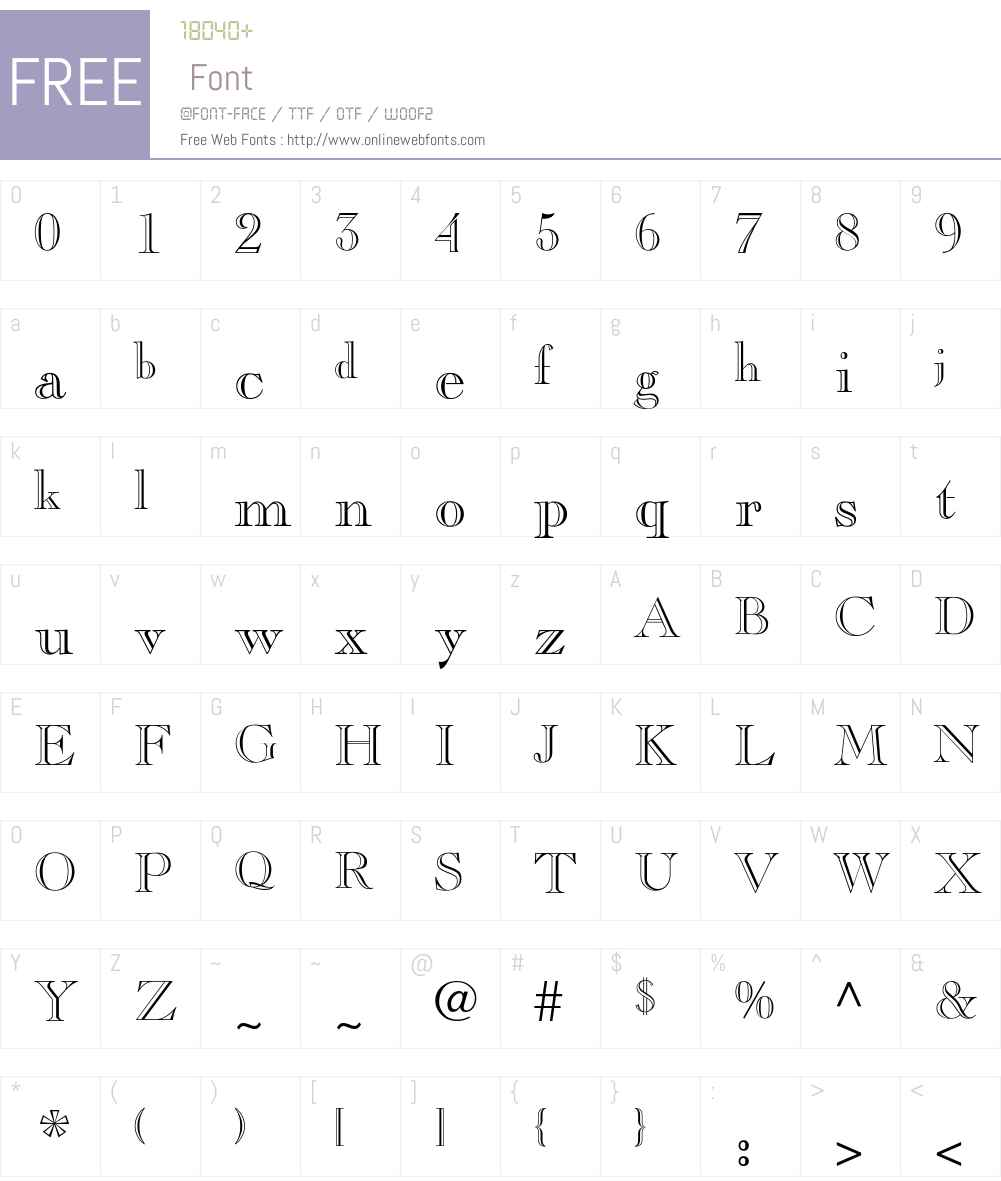Pinchi Font Screenshots