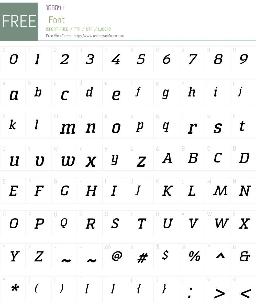 Sommet Slab Bold Italic Font Screenshots