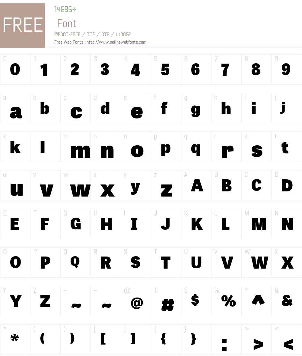TabletGothicW01-Heavy Font Screenshots