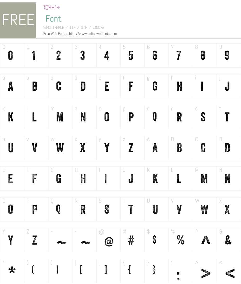 Veneer Font Screenshots