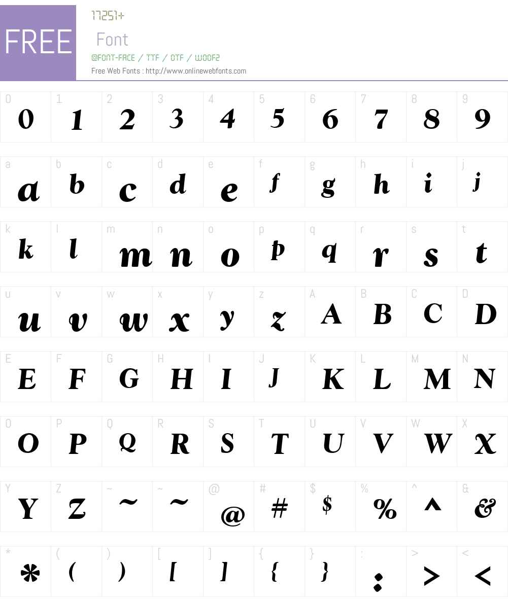 GoudyT Font Screenshots