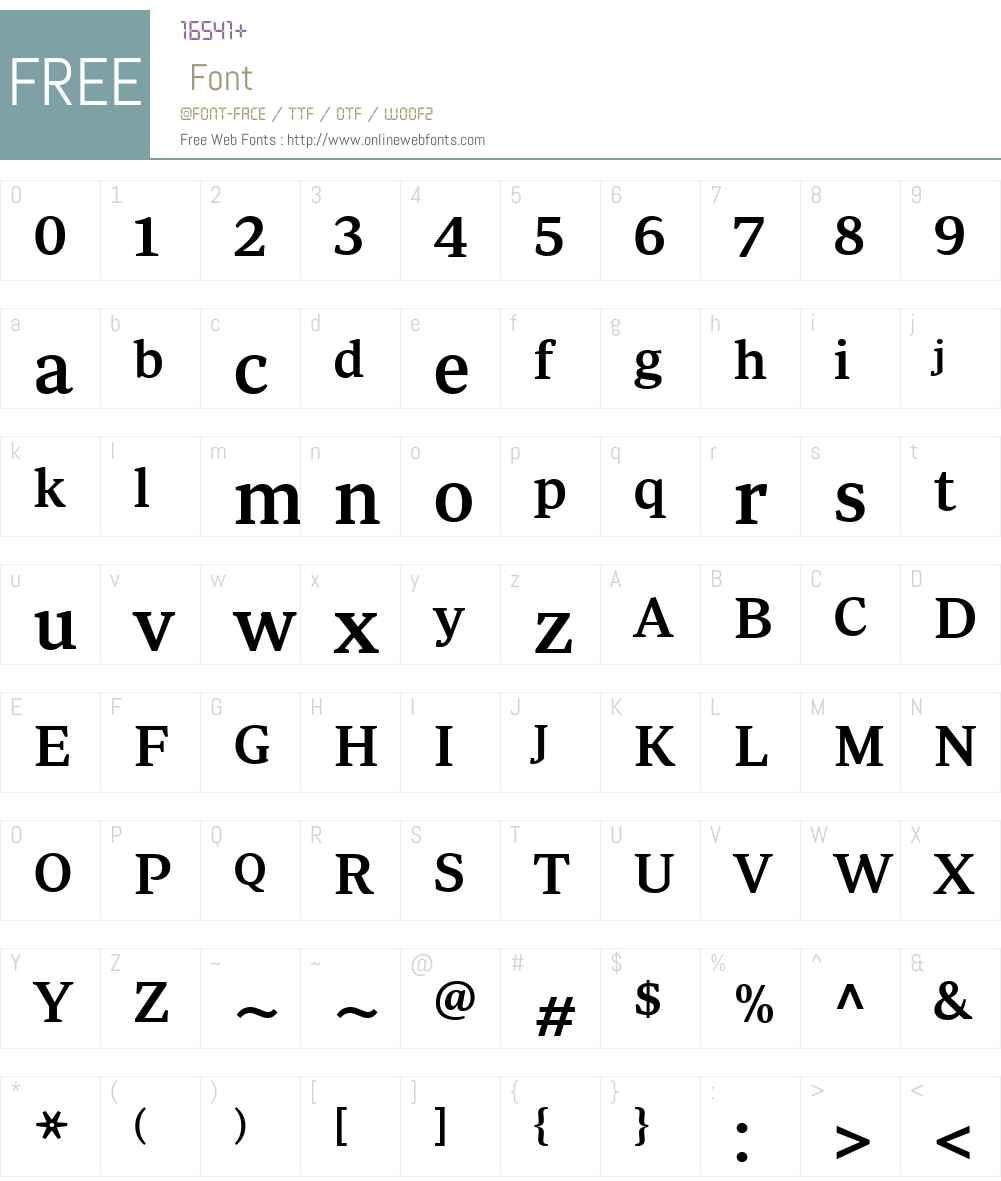 PeriodicoW03-TxtMedium Font Screenshots