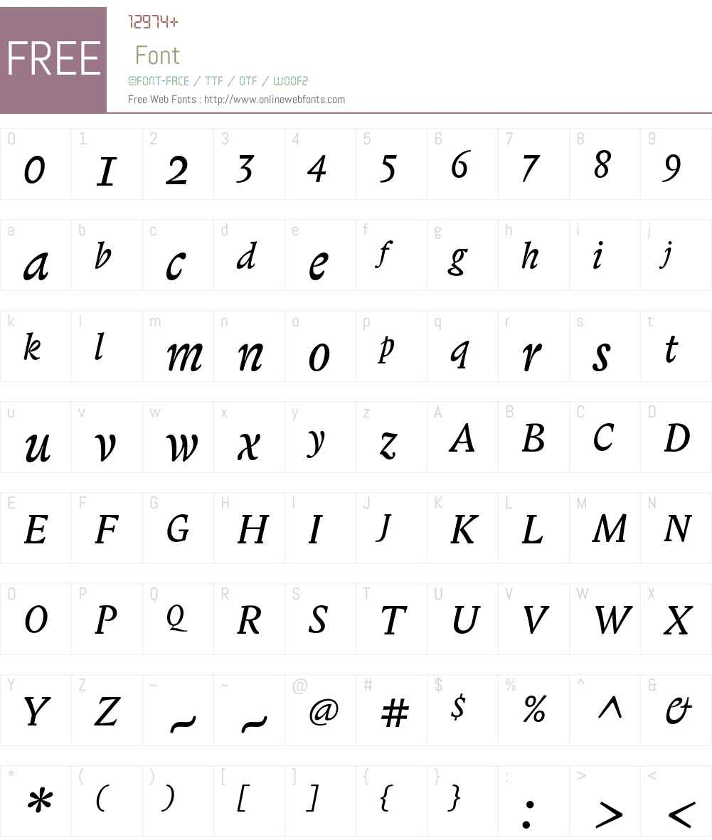 Biblon ITC Std Font Screenshots