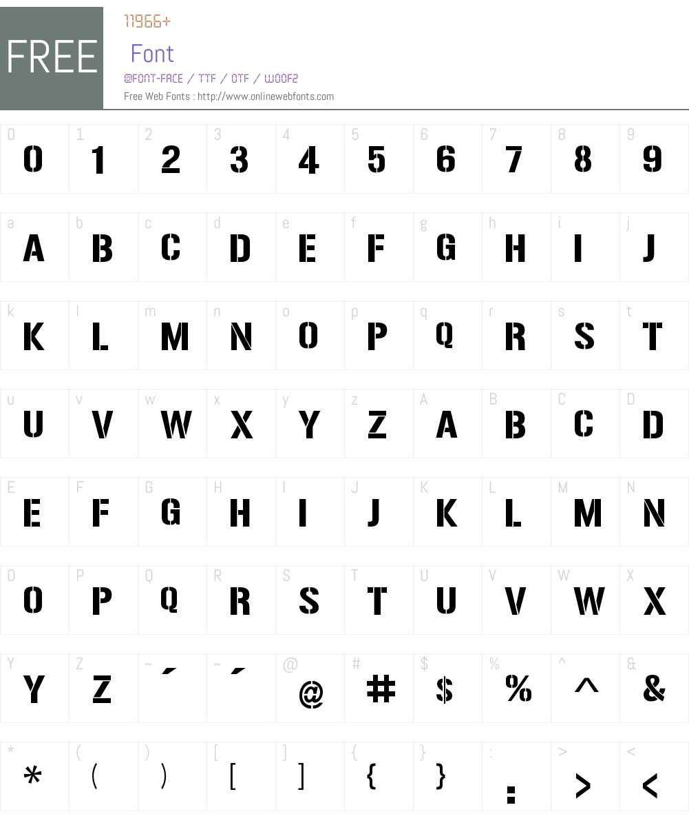 Reise Reise Font Screenshots