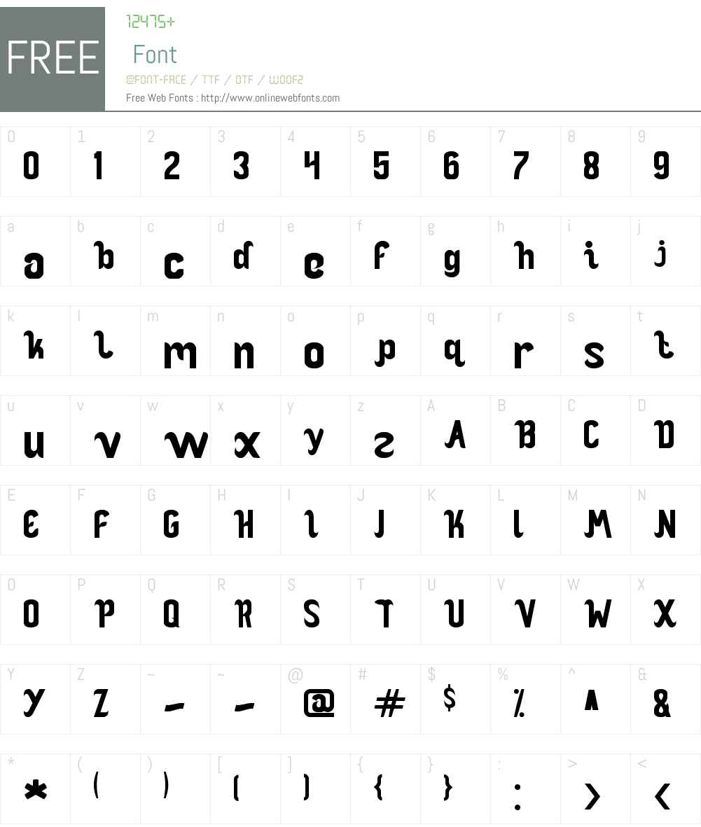 OCEAN Font Screenshots