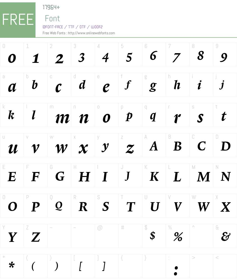LexiconNo1ItalicD Font Screenshots