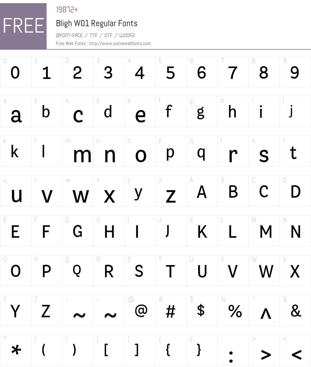 BlighW01-Regular Font Screenshots