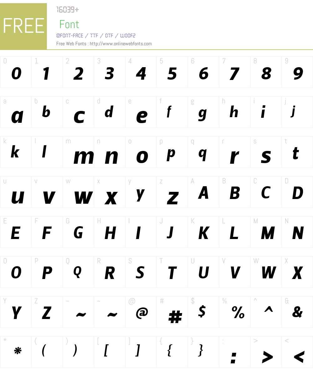 Leitura Sans Font Screenshots