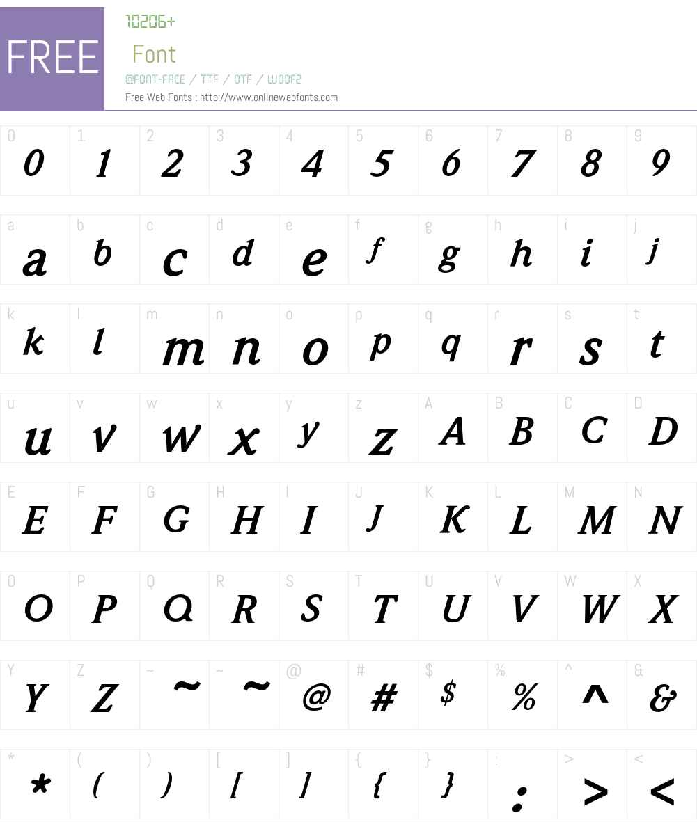 WeidemannEF Font Screenshots