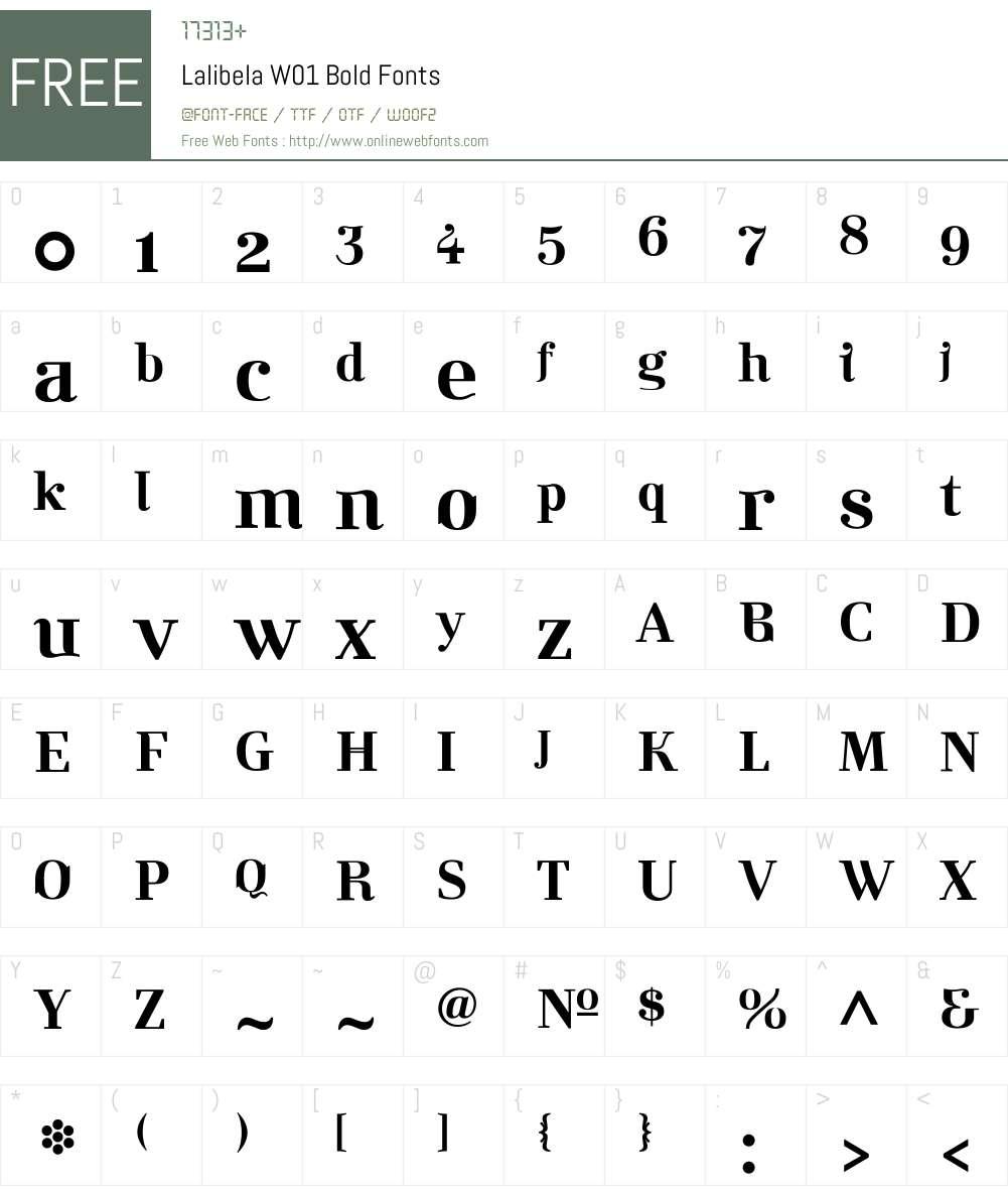 LalibelaW01-Bold Font Screenshots