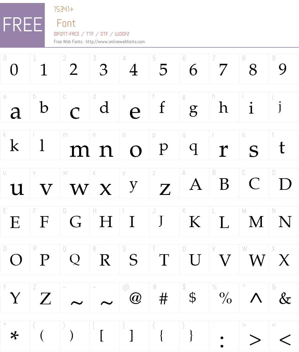 PalatinoLTW01-Roman Font Screenshots