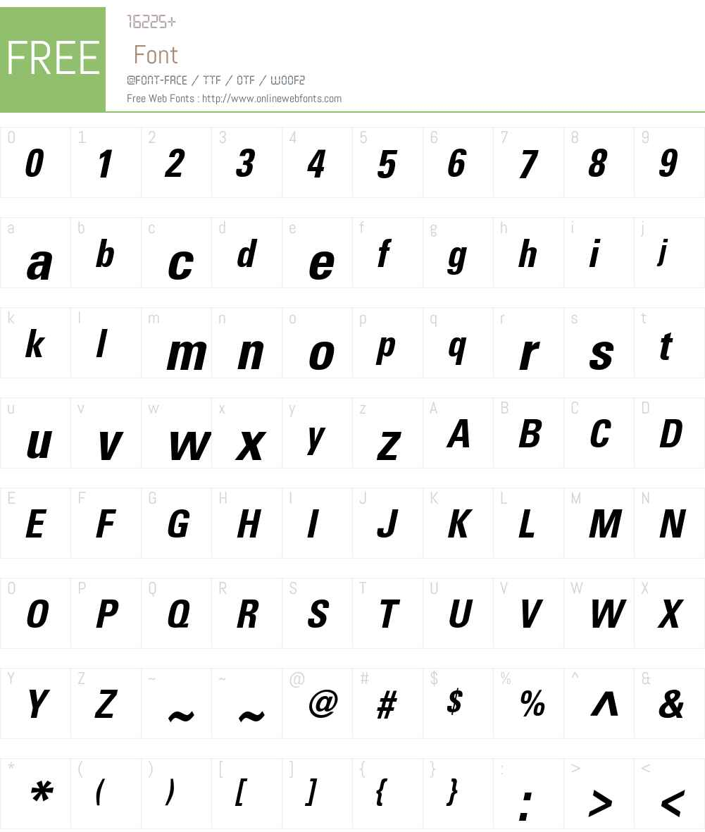 Nova Condensed SSi Font Screenshots