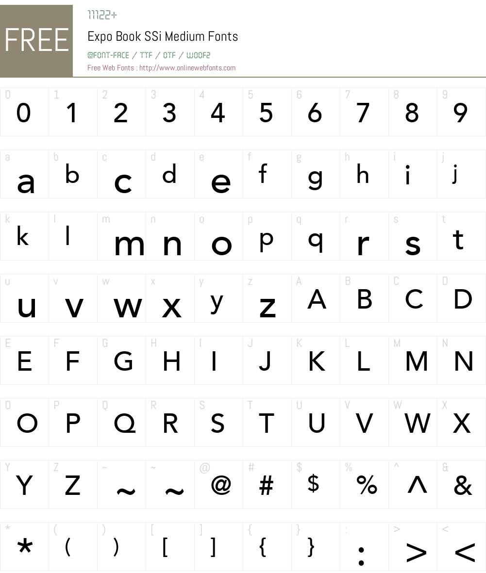 Expo Book SSi Font Screenshots