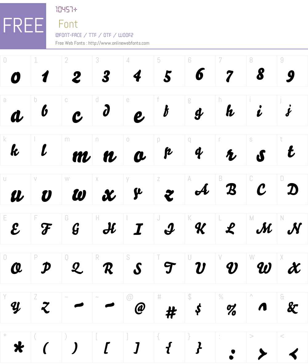 Bello Font Screenshots
