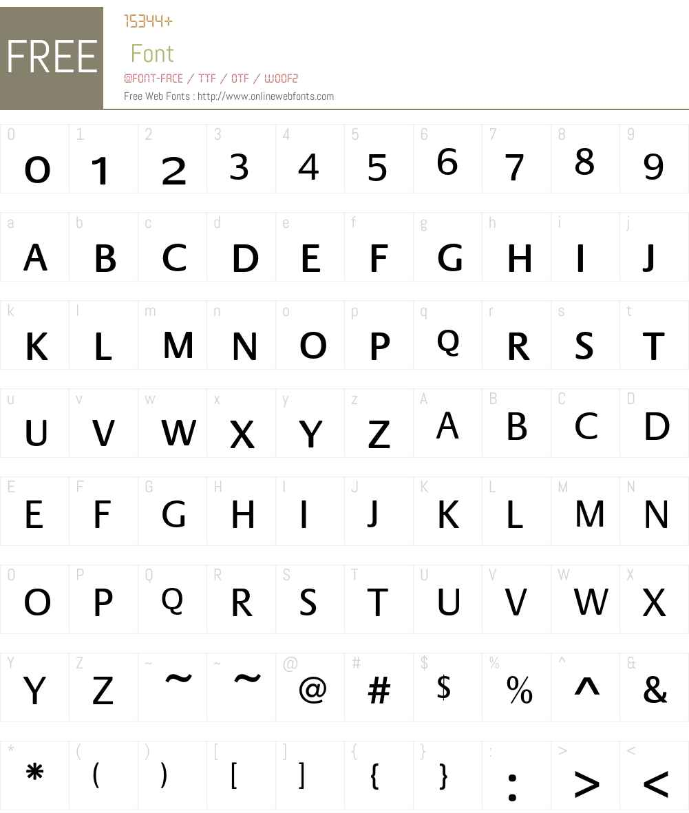 PraxisEF Font Screenshots