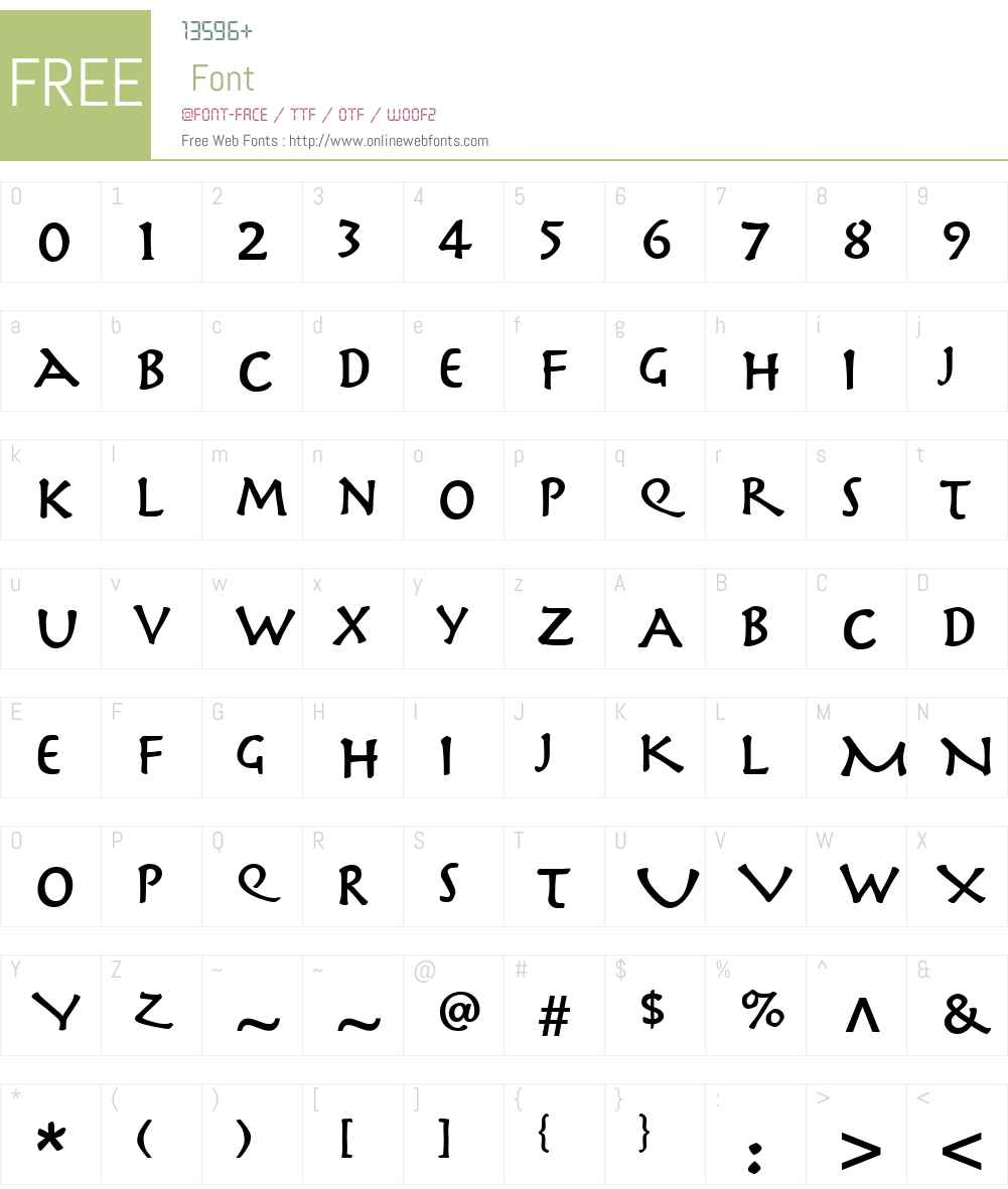 Herculanum Font Screenshots
