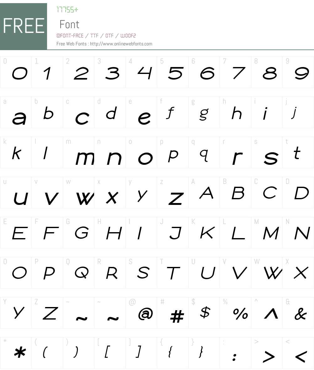 LogoSansW01-BoldItalic Font Screenshots