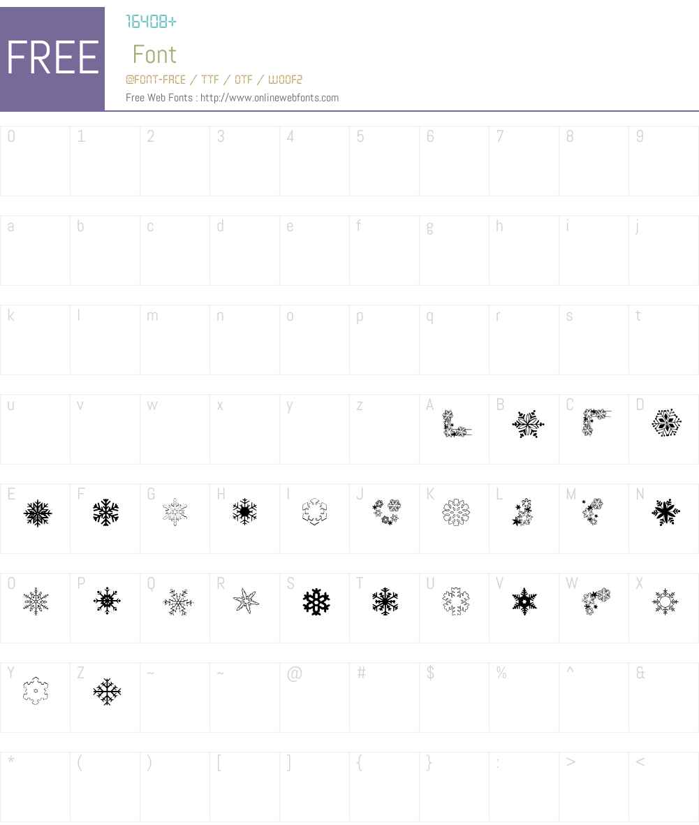 ryp_snowflake1 Font Screenshots