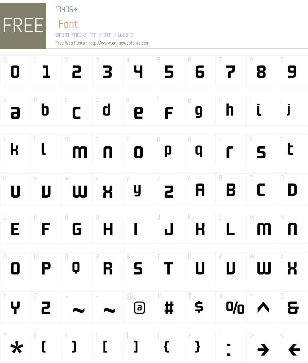 DesignSystemAW01-700R Font Screenshots